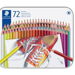 Akvarell/Teckna/Måla - Färgblyertspenna i Metallask 72st