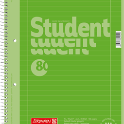 Block/Papper - Kollegieblock A4 Student Linjerat Grön
