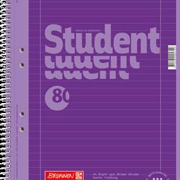 Block/Papper - Kollegieblock A4 Student Linjerat Lila