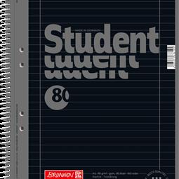 Block/Papper - Kollegieblock A4 Student Linjerat Svart