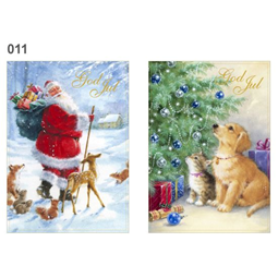 Jul - Dubbla Julkort i Bunt
