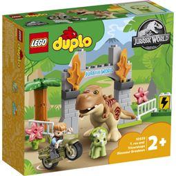 Duplo - Duplo T. rex och Triceratops Rymmer