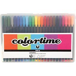 Måla - Colortime Fineliner 24 st färger